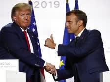 טראמפ ומקרון היום [צילום: פרנסואה מורי, AP]