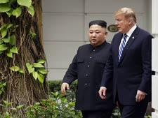 טראמפ וקים בפסגת הנוי [צילום: אוון ווצ'י, AP]