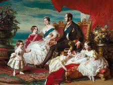 אלברט, ויקטוריה וחמישה מילדיהם