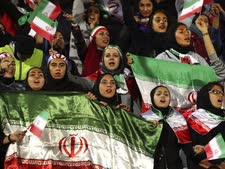 נשים שהורשו לצפות במשחק הנבחרת [צילום: וחיד סאלמי, AP]