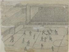 משחק כדורגל ברומניה[ציור: אמיל גולדהאגן]
