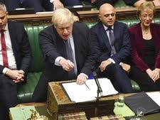 ג'ונסון היום בפרלמנט [צילום: AP]