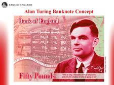 שטר לזכרו של אלן טיורינג [צילום: Bank of England via AP]