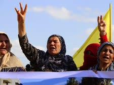 מפגינות כורדיות נגד טורקיה [צילום: AP]
