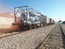 """רכבת המטענים ש""""נפגעה"""" [צילום: רכבת ישראל]"""
