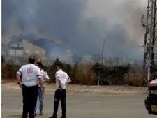 שריפה בבית עזרא [צילום: פלאש 90]