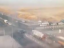 רגע לפני התאונה [צילום: יוטיוב]