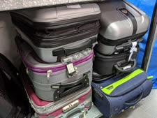 מזוודות במחלקת האבידות [צילום: רכבת ישראל]
