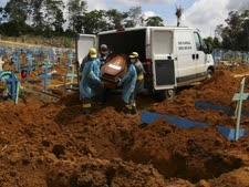 קבורת מתים מנגיף הקורונה בברזיל [צילום: אדמר בארוס / AP]