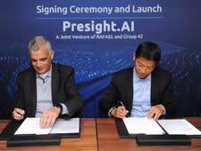 החתימה על ההסכם בין האמירויות לרפאל [צילום: דוברות רפאל]
