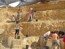 החפירות באתר בוקר תחתית [צילום: אליזבטה בוארטו, מכון ויצמן למדע]