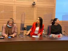 מרב מיכאלי, הילה שי וזאן, אימאן יאסין ח'טיב [צילום: דני שם-טוב/דוברות הכנסת]