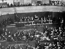 הרצל נואם בקונגרס הציוני השני