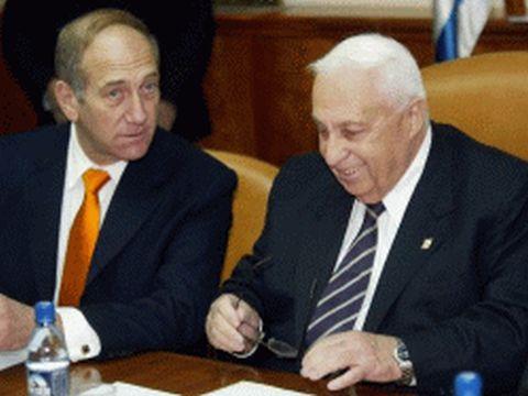 אריאל שרון, אהוד אולמרט. שחיתות בצמרת [צילום: AP]