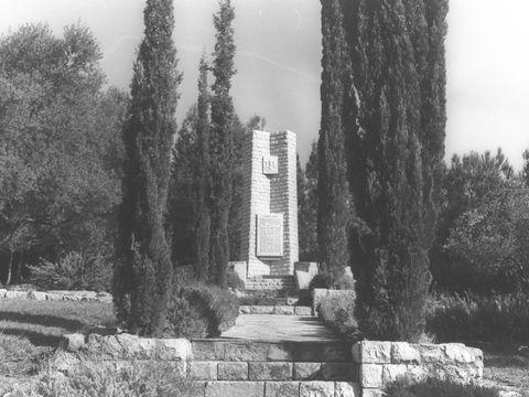 """אנדרטת שיירת יחיעם [צילום: פריץ כהן/לע""""מ]"""