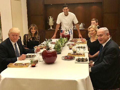 """ארוחת הערב המשותפת במעון ראש הממשלה [צילום: יח""""צ]"""