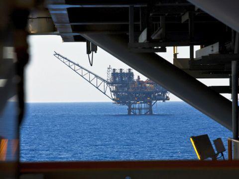 קידוח גז בים התיכון [צילום: פלאש 90]
