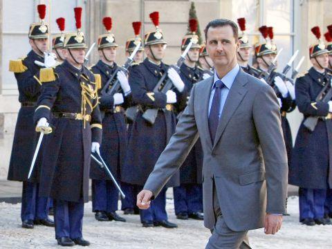 לא העם הסורי יחרוץ את גורלו. אסד [צילום: AP/Remy de la Mauviniere]
