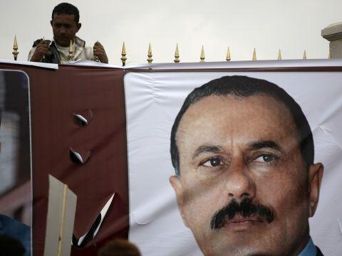 נשיא תימן המודח, עלי עבדאללה סאלח [צילום: AP]