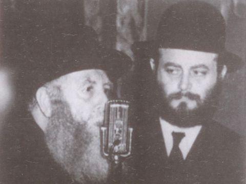 הרבי מלובביץ' עם חותנו