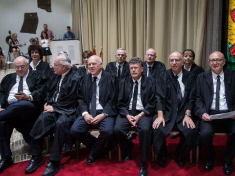 11 מבין 15 השופטים [צילום: הדס פרוש, פלאש 90]