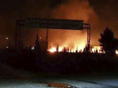 תקיפה בסוריה [צילום ארכיון: SANA]