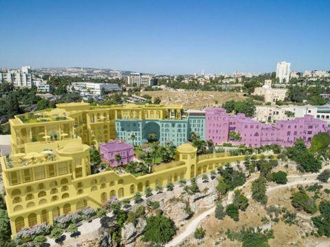 """מלון הר ציון הדמיה [צילום: לאה רובננקו אדריכלים בע""""מ, View Poin]"""