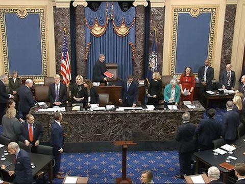 ההצבעה במשפט ההדחה בסנאט [צילום: AP]
