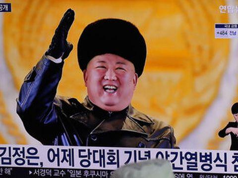 קים בנאומו בתחילת החודש [צילום: לין ג'ין-מה, AP]